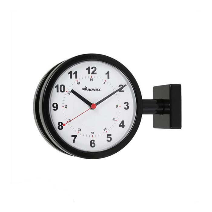 【 DULTON DOUBLE FACE CLOCK 170D BLACK S624-659BK 】 両面時計 壁設置 ウォールクロック 壁掛け時計 ダルトン ダブルフェイス クロック ブラック