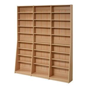 jkプラン 1cmピッチ 文庫本収納ラック 幅150 薄型 ワイド ブックシェルフ 高さ 180 木製 大容量 書斎収納 700冊以上 FRM-0011-LB