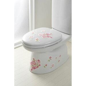 サンコー ズレないデコれる消臭シート おくだけ吸着 トイレの消臭シート リボン ピンク バラ KD-62 【 サンコー / トイレの消臭シート リボン / PI / KD-62 】