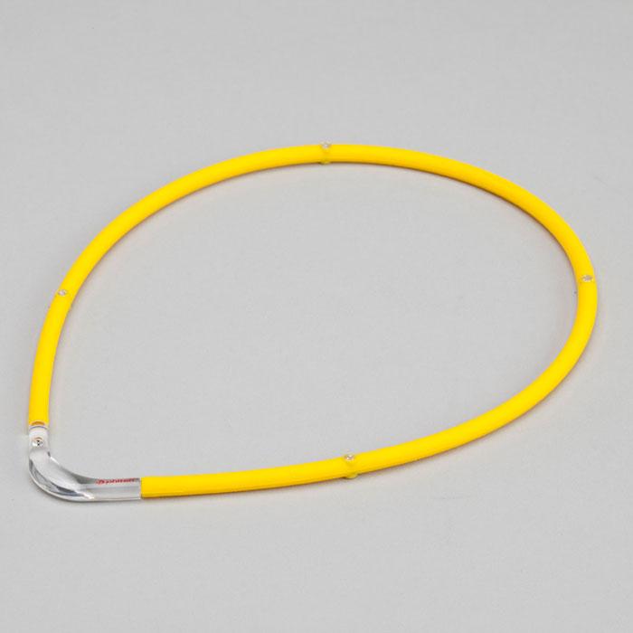 ファイテン(phiten) RAKUWA磁気チタンネックレスS-|| イエロー×クリア 55cm 0215TG677354
