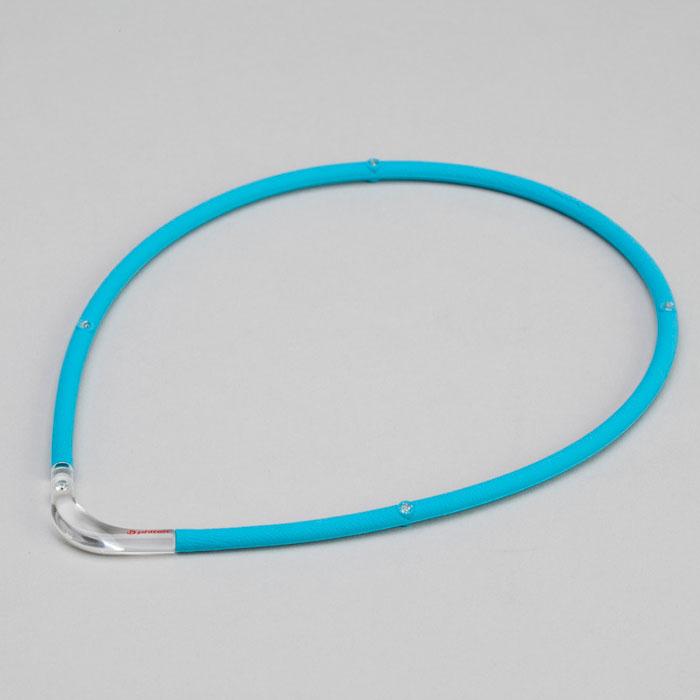 ファイテン(phiten) RAKUWA磁気チタンネックレスS-|| ブルー×クリア 45cm 0215TG677452