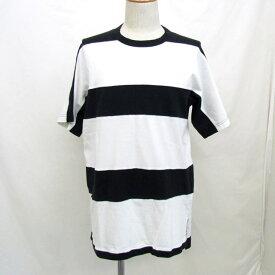 Y-3 adidas ワイスリー アディダス Tシャツ ボーダー CY6886 ブラック 黒 ホワイト 白 半袖 トップス XS ヨウジヤマモト コラボ ダブルネーム 綿 コットン トップス メンズ T東大阪店【中古】