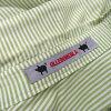 615249 Higashiosaka shop made in ALBEROBELLO Al vero vero OLLEBOREBLA オレボレブラシャツワンピース short sleeves skirt white green stripe embroidery ribbon Lady's Japan
