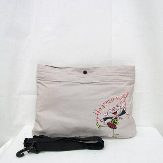 OLLEBOREBLA Al vero vero novelty article not for sale 35th shoulder bag anniversary nylon embroidery pig lady's rare Higashiosaka shop