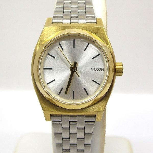ニクソン NIXON 腕時計 ミディアム タイムテラー ウォッチ アナログ シルバー ステンレス ゴールド レディース アクセサリー シンプル 東大阪店 147245 【USED】