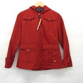 aa9d84815da07 BURBERRY バーバリー コート ジャケット レッド 赤 ノバチェック 女の子 女児 キッズ 140cm フード付き アウター 防寒