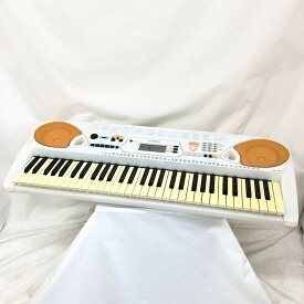 YAMAHA ヤマハ 電子キーボード 光ナビゲーション EZ-J22 61鍵盤 ホワイト オレンジ ポップカラー 電子ピアノ 鍵盤楽器 アダプター付き T東大阪店【中古】