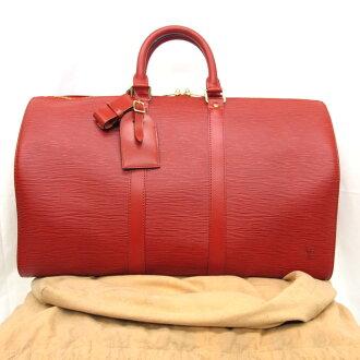 有LOUIS VUITTON路易威登寬底旅行皮包旅行包M42977鍵投票45 epireddo紅旅遊包女士人包包法國製造保存袋的東大阪商店259597