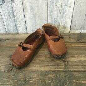 trippen シューズ トリッペン 靴 ブラウン 茶色 brown ぺたんこ ストラップ レディース RK47N 古着屋NEXT貝塚店 【中古】