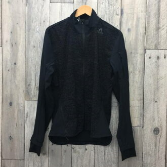 adidas愛迪達裝置上下長袖子運動衫頂端健身運動套裝跑步健身房半麵包黑色M黑人EXT貝冢店RK295A