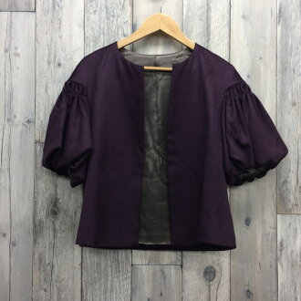 Lady's secondhand clothes store NEXT shell mound shop RK2085M made in Scye rhinoceros suit setup skirt jacket haori four circle ceremony suit wedding ceremony second party Seven-Five-Three Festival omiyamairi purple purple size 38 Japan