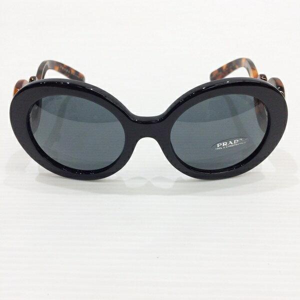 PRADA プラダ SPR08T-F サングラス Minimal Baroque アイウェア ブラック べっ甲 ホワイト ファッション小物 レディース イタリア製 三国ヶ丘店 033849 【Aランク】 RMB584