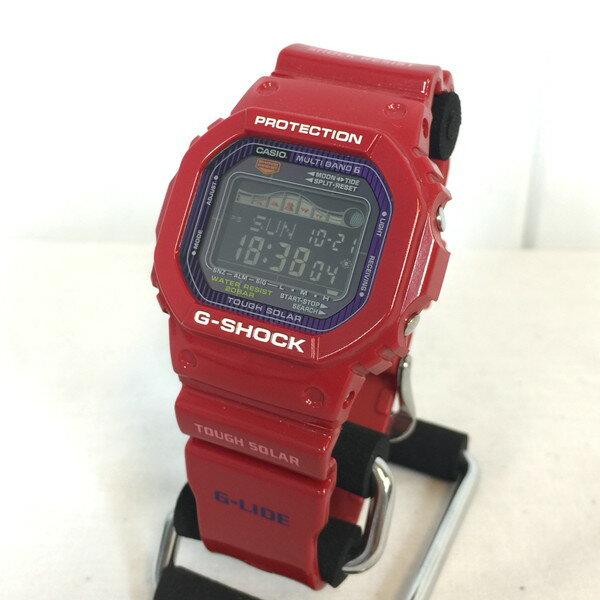 G-SHOCK Gショック GWX-5600C-4JF 腕時計 ウォッチ カシオ CASIO G-LIDE Gライド 電波ソーラー レッド 赤 RED メンズ 貝塚店 560957 【中古】 RK638U