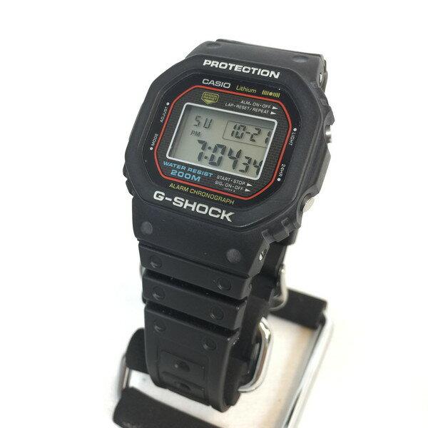 G-SHOCK ジーショック Gショック ファースト DW-5000C-1A 初号機 80s CASIO カシオ 腕時計 オリジナル 1983 ブラック 黒 ウォッチ メンズ 貝塚店 233740 【中古】 RK631U