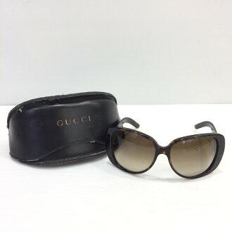 Mikunigaoka shop 177635 RM583T made in GUCCI Gucci sunglasses glasses GG2932 brown tortoiseshell Lady's Italy