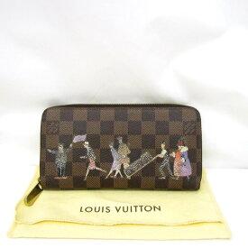 5014f4c16e05 LOUIS VUITTON ルイヴィトン 長財布 ロングウォレット ラウンドファスナー ラウンドジップ ダミエ ブラウン ジッピーウォレット