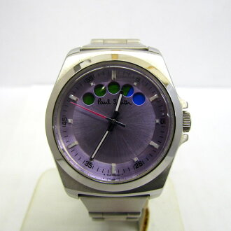 38ac47de357 NEXT51  PaulSmith Paul Smith watch analog quartz round face F335-H29590  JAPAN silver clockface purple stainless steel Lady s Higashiosaka store  307762 ...