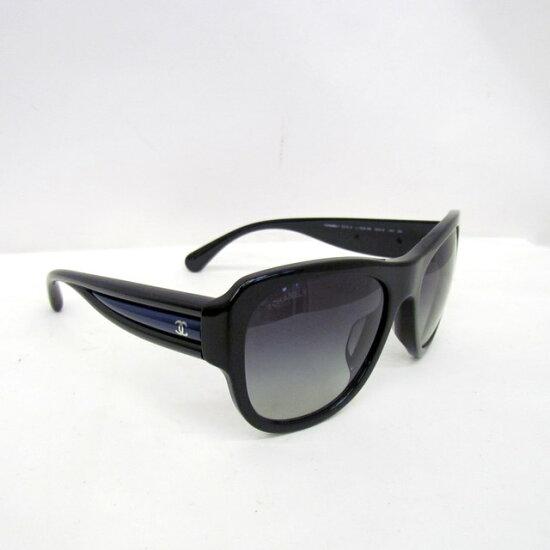 有CHANEL香奈爾太陽眼鏡5310-A 55□19黑色黑藍色這裏標記層次女士人盒子的眼罩意大利製造東大阪商店329634 RYB2583 NEXT51