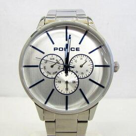 ac90891a29 POLICE ポリス 腕時計 SWIFT スウィフト14999J ラウンドフェイス クォーツ アナログ デイト シルバー 文字盤シルバー 保存