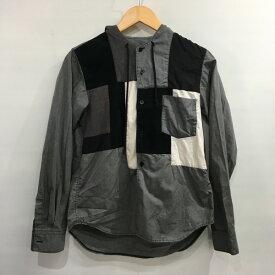 BLACK COMME des GARCONS ブラックコムデギャルソン 13AW パッチワークフードシャツ 1L-D017 切り替え パーカー グレー メンズ XS 日本製 三国ヶ丘店 572614 【中古】 RM4112