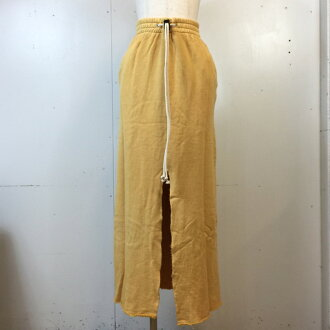 Product made in journal standard Furniture journal standard furniture ACASAM SWEAT MAXI SKIRT dirt Sam sweat shirt maxi long yellow yellow yellow Lady's FREE-free Japan-free shell mound store 802849 RK9361