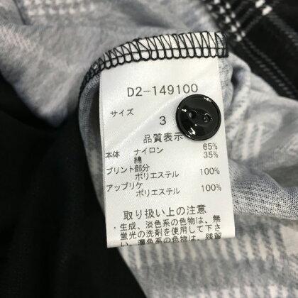DANCEWITHDRAGONダンスウィズドラゴン長袖ポロシャツトップスブラックチェックハートレディース3日本製三国ヶ丘