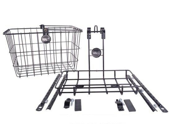 【送料無料】自転車用 前カゴ WALD 3339 Front Basket & Rack Combo 自転車 重い荷物を積めるビッグサイズ クルーザー 折りたたみ自転車 ファットバイクに最適