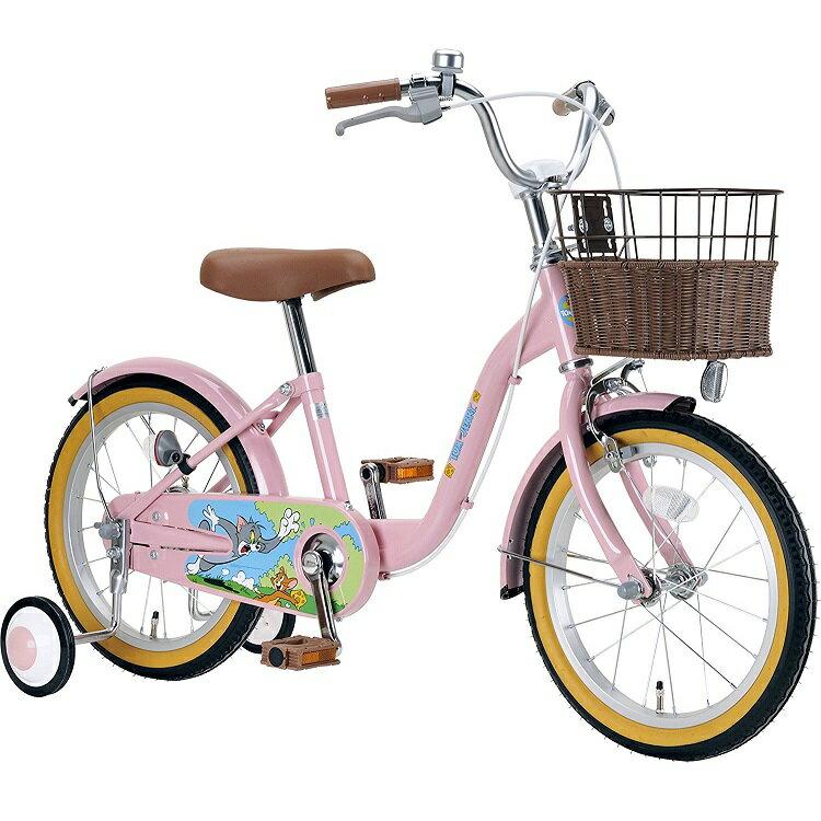 子供用自転車 18インチ WB トム&ジェリーキッズバイシクル トム ジェりー キャプテンスタッグ CAPTAIN STAG かわいい かっこいい おしゃれ 迷彩 カモフラ 女の子 男の子 ブランド YG-290 ピンク YG-291 ブルー