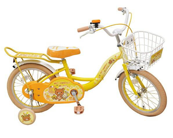 子供用自転車 16インチ 自転車 子供用自転車 1404 リラックマ San-X Rilakkuma コリラックマ キイロイトリ サンエックス 16 補助輪付 M&M(エムアンドエム)プレゼント  子供 元★