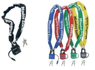 喜愛供Master Lock(主人鎖頭)◆鏈子鎖頭(鑰匙型)◆自行車使用的◆8390EURDPRO四色九州、四國郵費+648日圆禮物的小孩入學祝賀小學女人的孩子入園祝賀
