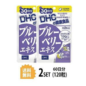 【送料無料】【2パック】 DHC ブルーベリーエキス 30日分×2パック(120粒) ディーエイチシー サプリメント アントシアニン ルテイン マリーゴールド サプリ 健康食品 粒タイプ