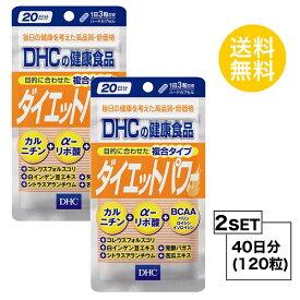 【お試しサプリ】【2個セット】【送料無料】 DHC ダイエットパワー 20日分×2パック (120粒) ディーエイチシー サプリメント ファビノール リポ酸 粒タイプ