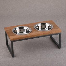 【名入れできる】 フードボウル アイアン ペット 動物 イヌ ネコ 器台 フードボウルスタンド 食器スタンド テーブル 食器 木製 ウォーターボウル 犬用 猫用 オシャレ インテリア 高級 名入れ