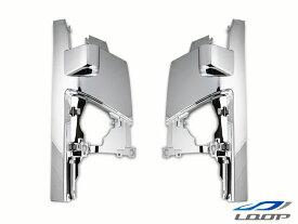 エルフ いすゞ トラックパーツ 07y- ハイキャブ ワイドキャブ用 純正タイプ メッキコーナーパネル 左右セット H19.1〜