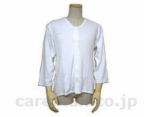 紳士遠赤当て付(肩・背中)八分厚地前開きシャツ / W465 白 LL [ウエル]