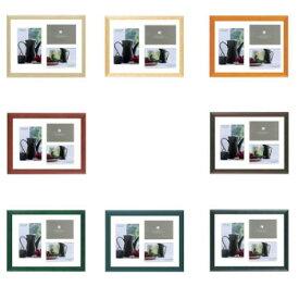 ●【送料無料】A.P.J. フォトフレーム ステインフレーム A4(マット付)「他の商品と同梱不可/北海道、沖縄、離島別途送料」