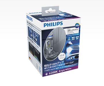 PHILIPS(フィリップス) X-treme Ultinon LED H4 LED ヘッドランプ 6200K [12953BWX2]