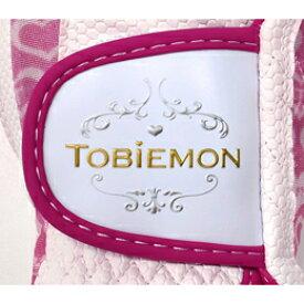 ☆5個セット TOBIEMON R&A公認レディース ストレッチグローブ ホワイトピンク Mサイズ T-LG-MX5