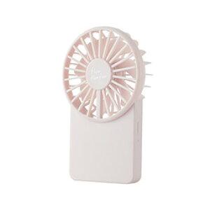 ☆エレコム USB扇風機/充電可能/薄型ハンディ/カラビナ付/ピンク FAN-U212PN