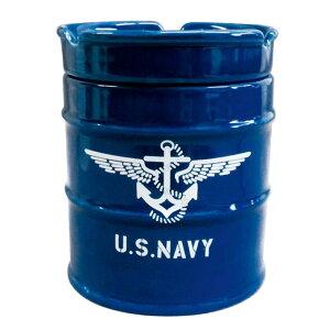 ●【送料無料】NEWドラム缶灰皿 NAVY AR-1426-3「他の商品と同梱不可/北海道、沖縄、離島別途送料」