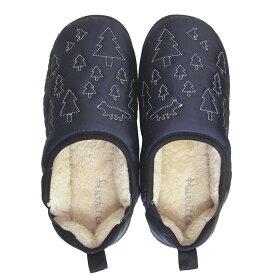 ●【送料無料】Boa slippers(ボアスリッパ) ダウンスリッパ ネイビー Mサイズ(22-24cm) 72176「他の商品と同梱不可/北海道、沖縄、離島別途送料」