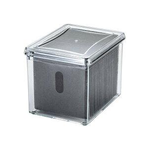 ●【送料無料】サンワサプライ ブルーレイディスク対応アクリルボックスケース(100枚収納) FCD-FBOX14CL「他の商品と同梱不可/北海道、沖縄、離島別途送料」