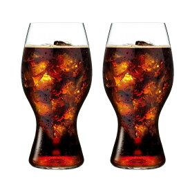 ●【送料無料】リーデル・オー コカ・コーラ + リーデル グラス 414/21 (480cc) 2個箱入 648「他の商品と同梱不可/北海道、沖縄、離島別途送料」