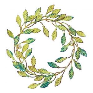 ●【送料無料】【代引不可】彩か(SAIKA) Wall Decoration METAL Wreath メタルリース アンティークグリーン CIE-730「他の商品と同梱不可/北海道、沖縄、離島別途送料」