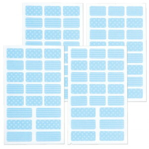 ●【送料無料】お名前シール ぺったん ブルー 2個組「他の商品と同梱不可/北海道、沖縄、離島別途送料」