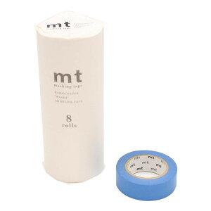 ●【送料無料】mt マスキングテープ 8P ブルー MT08P183「他の商品と同梱不可/北海道、沖縄、離島別途送料」