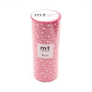 ●【送料無料】mt マスキングテープ 8P ハート・スポット MT08D331「他の商品と同梱不可/北海道、沖縄、離島別途送料」