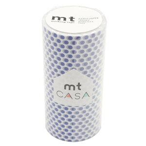 ●【送料無料】mt CASA マスキングテープ 100mm ドット・ナイトブルー MTCA1102「他の商品と同梱不可/北海道、沖縄、離島別途送料」