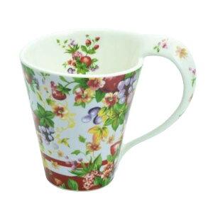 ●【送料無料】ロイヤルアーデン ニューボーンチャイナ スパイラルマグカップ 花柄・37601「他の商品と同梱不可/北海道、沖縄、離島別途送料」
