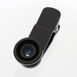 ☆サンコー インカメラも利用できるクリップ式広角レンズ2 ブラック CLPWIDBK